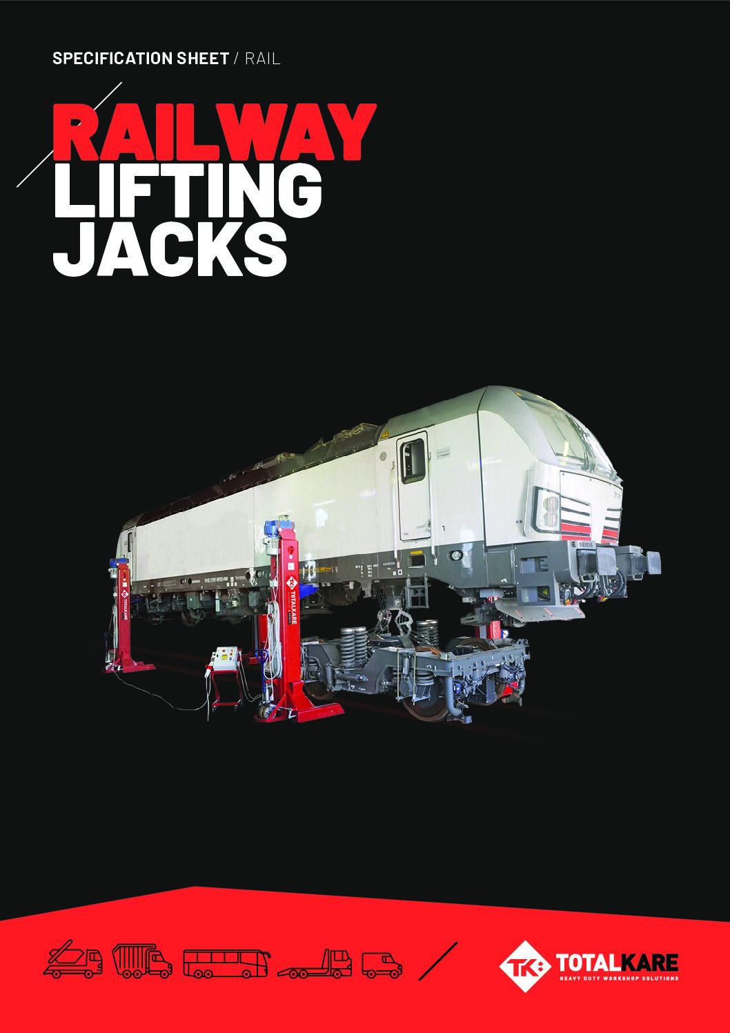 Totalkare Railway Lifting Jacks Specification Sheet