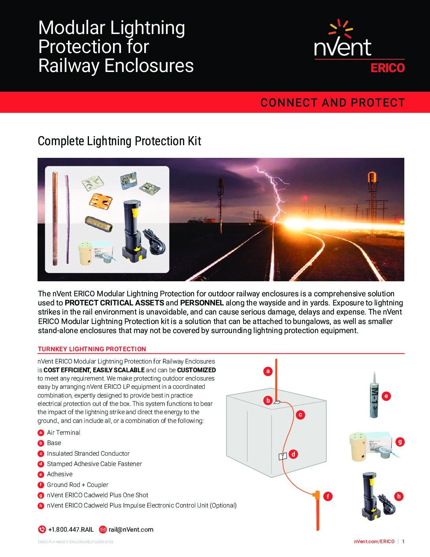 Modular Lightning Protection for Railway Enclosures