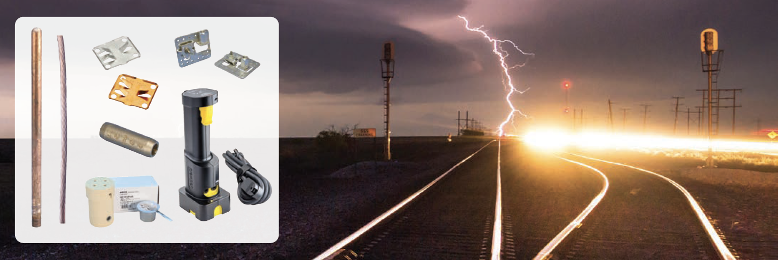 Modular Lightning Protection for Rail