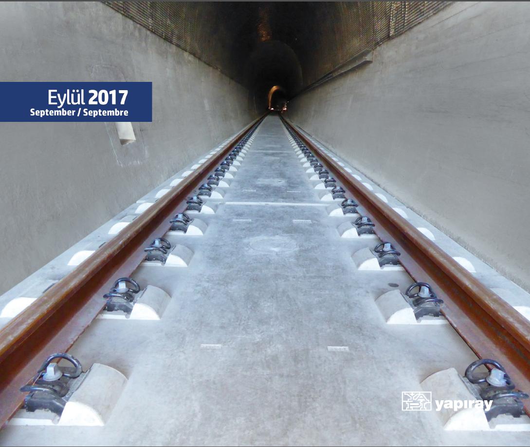 Construction of ballastless track in Istanbul, Çatalca Tunnel
