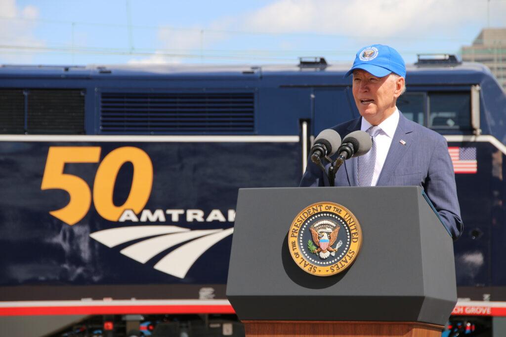 President Biden celebrates Amtrak's 50th anniversary