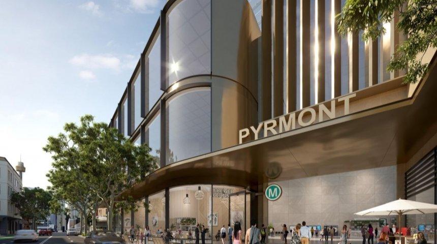 Artist's impression of Pyrmont Station