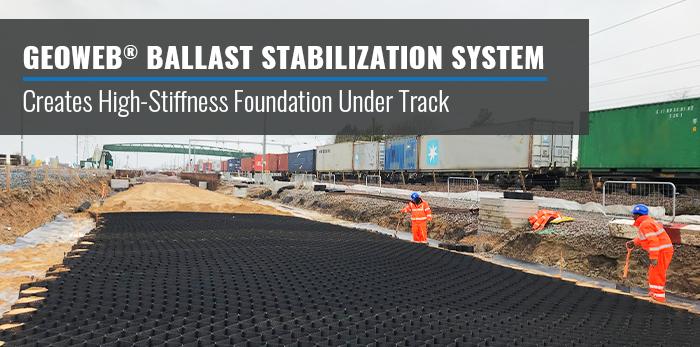 GEOWEB® Ballast Stabilisation System Werrington Dive Under