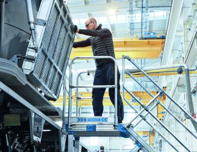 ZARGES Access Steps Rail Vehicle Maintenance