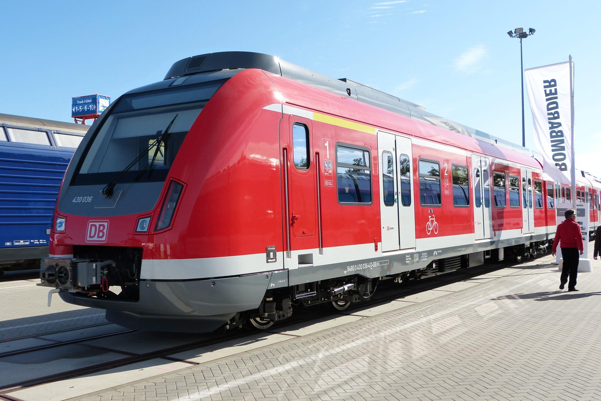 Presentation of the BR430 S-Bahn for Stuttgart at InnoTrans 2012