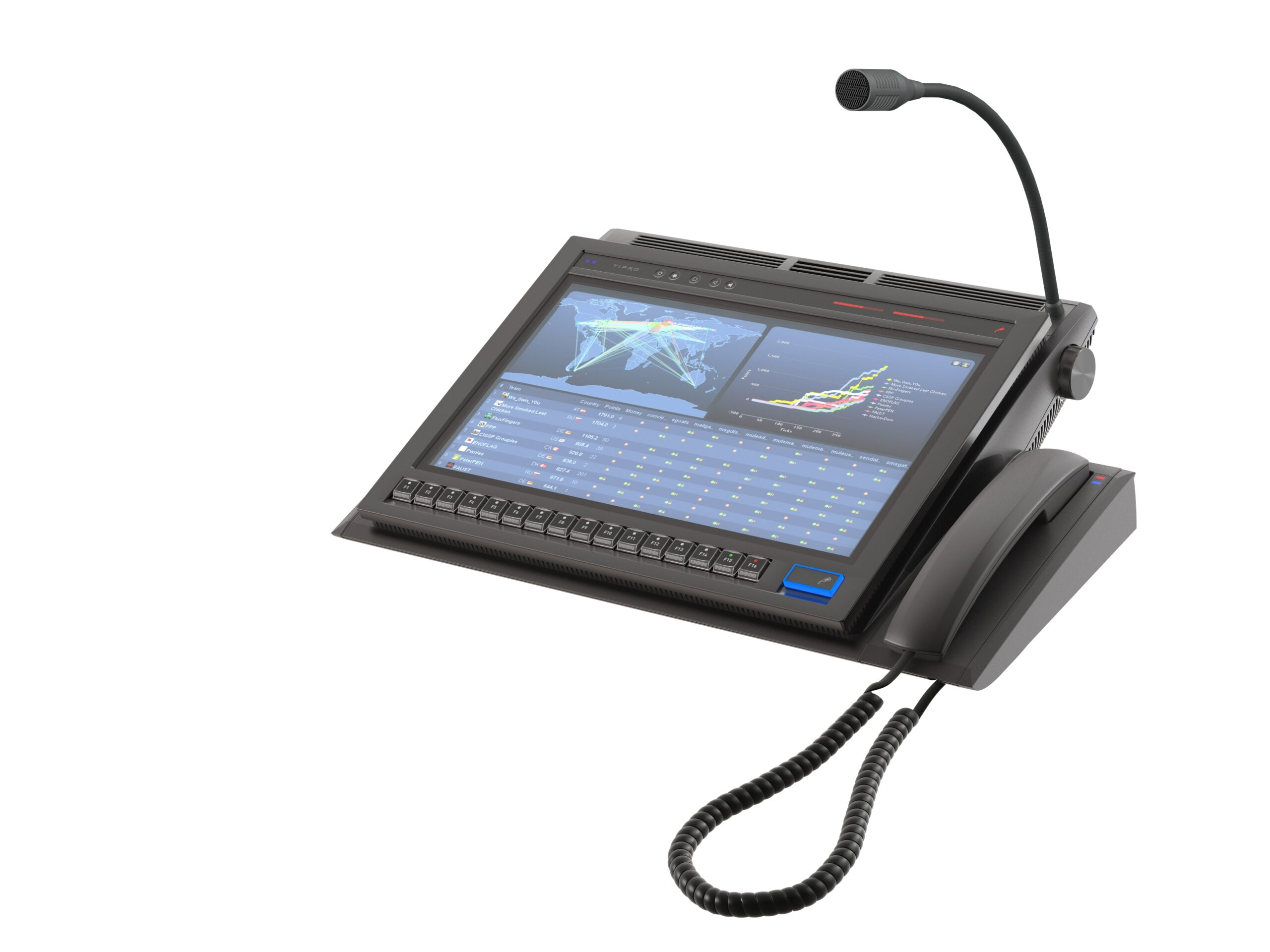 15.6'' Touchcomputer with Integrated InterCom and Programmable keys and Handset
