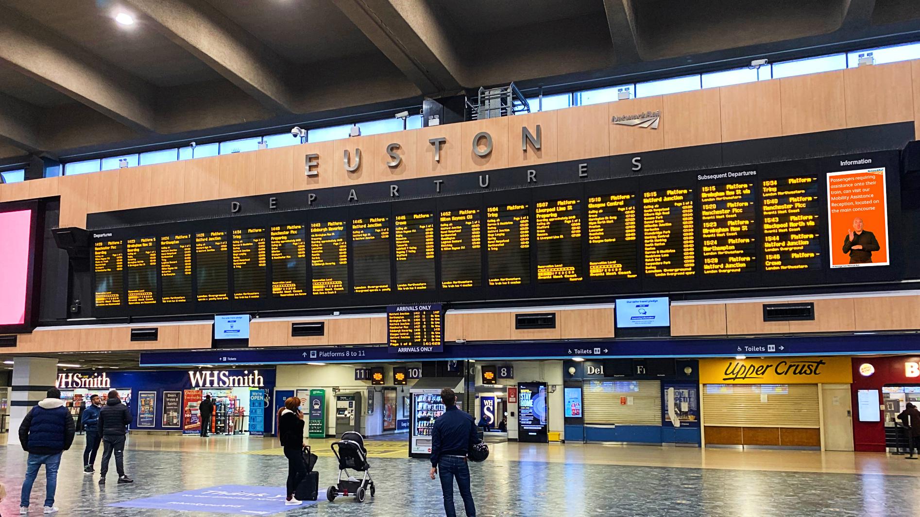 British Sign Language screens launched at Euston Station