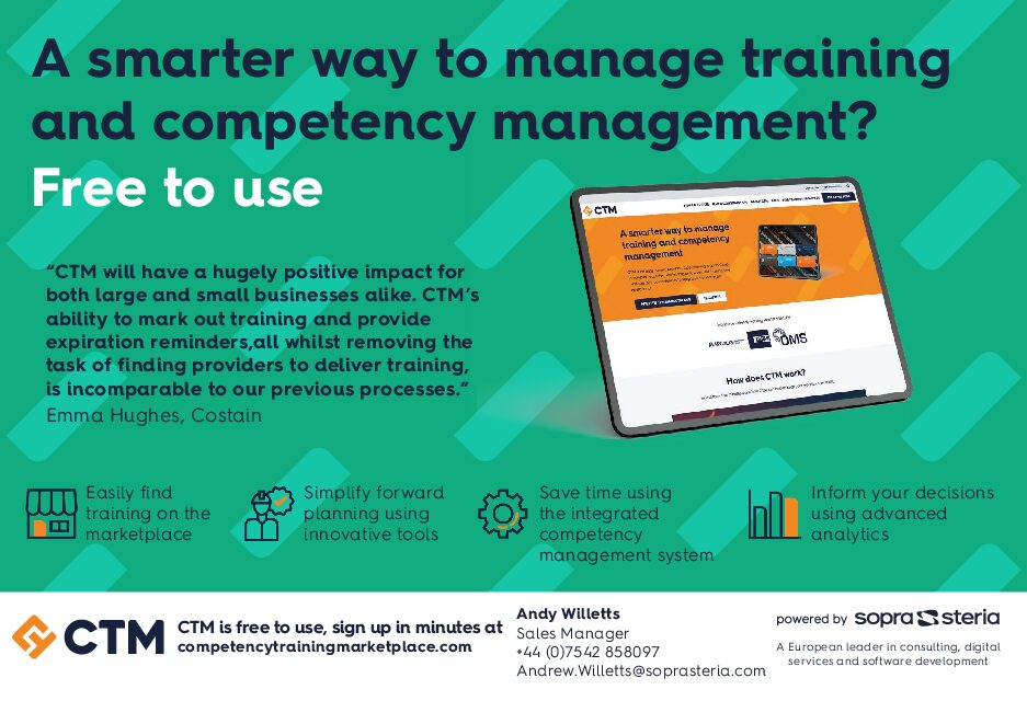 Competency Training Marketplace – Downloadable Advert