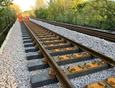 Network Rail Lays First Recycled Plastic Railway Sleepers