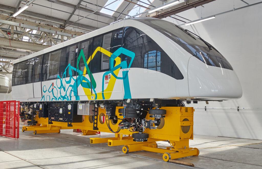Alstom Innovia 300 car under construction at Derby