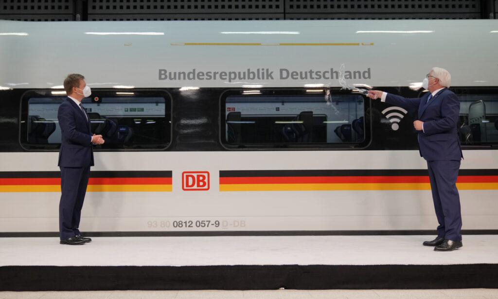 Steinmeier baptises ICE train 'Bundesrepublik Deutschland', celebrating 30 years of ICE trains
