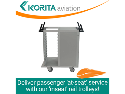 Passenger 'At-seat' Service With 'Inseat' Rail Trolleys!
