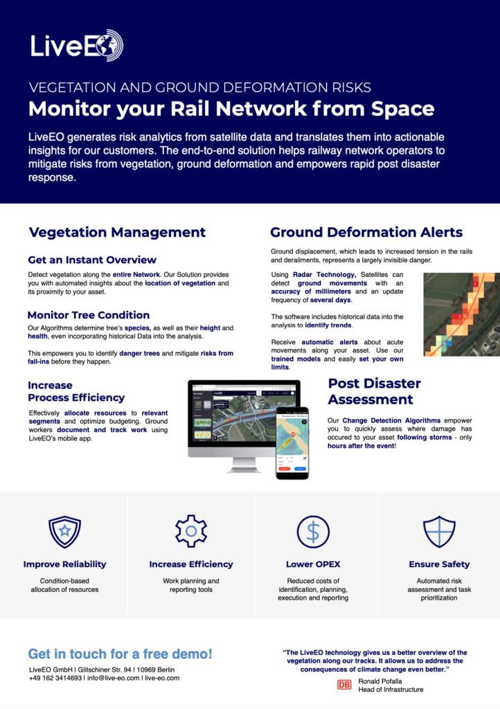 LiveEO GmbH Railway Satellite Monitoring