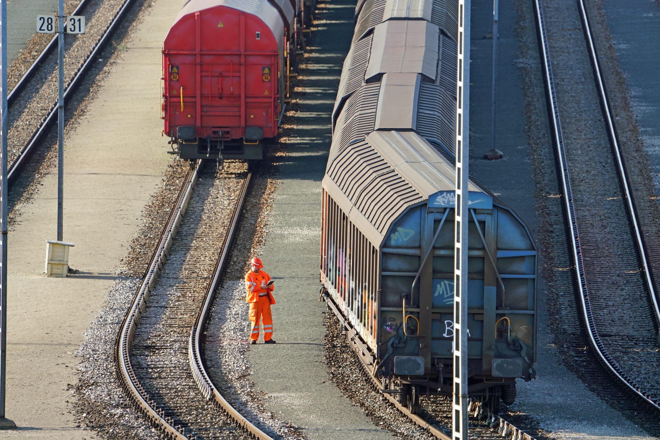 Preparing a freight train