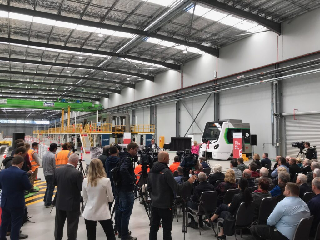 Opening of METRONET's train manufacturing facility in Western Australia.