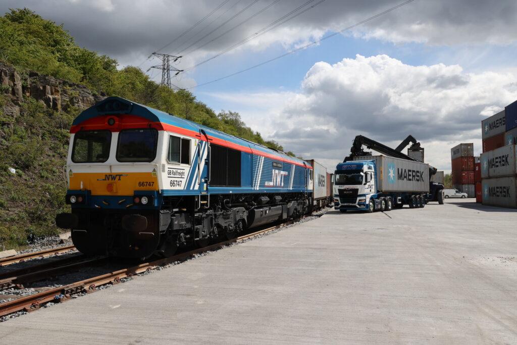 A new cargo terminal under development at Tinsley, near Sheffield
