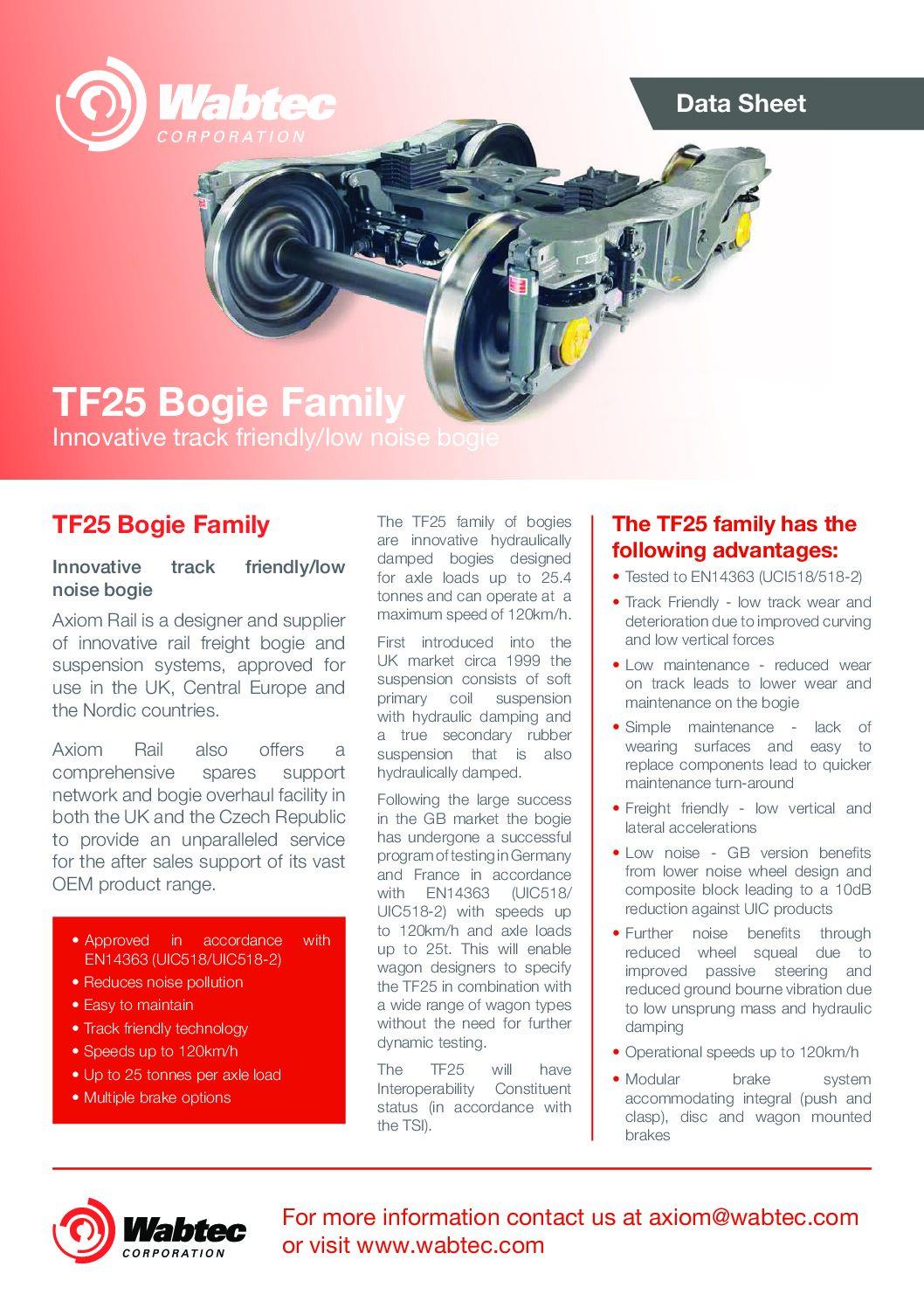 Wabtec Axiom TF25 Bogie Family