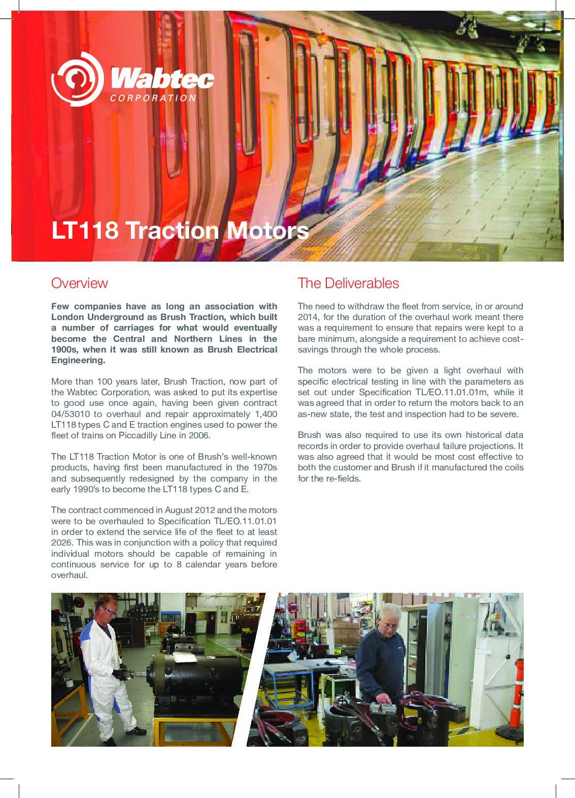 Wabtec Traction Motors Case Study