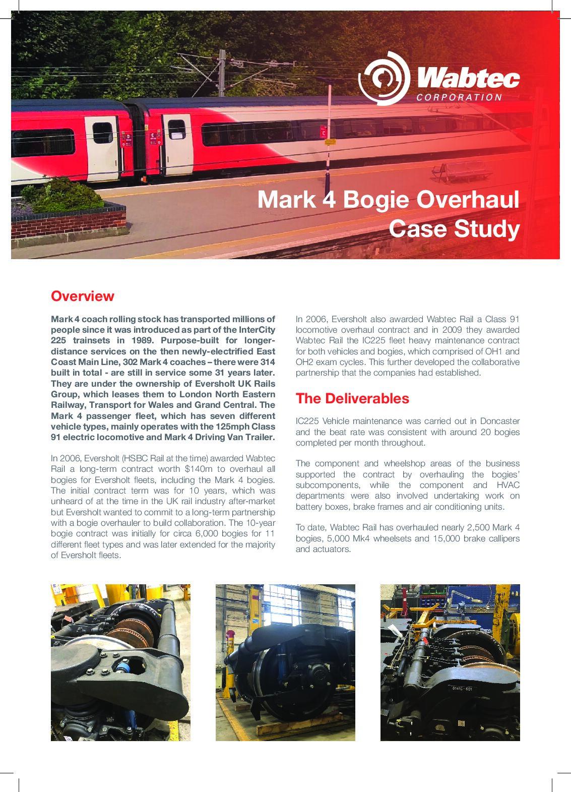 Wabtec MK4 Bogie Overhaul Case Study