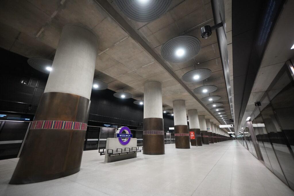 Woolwich station platform