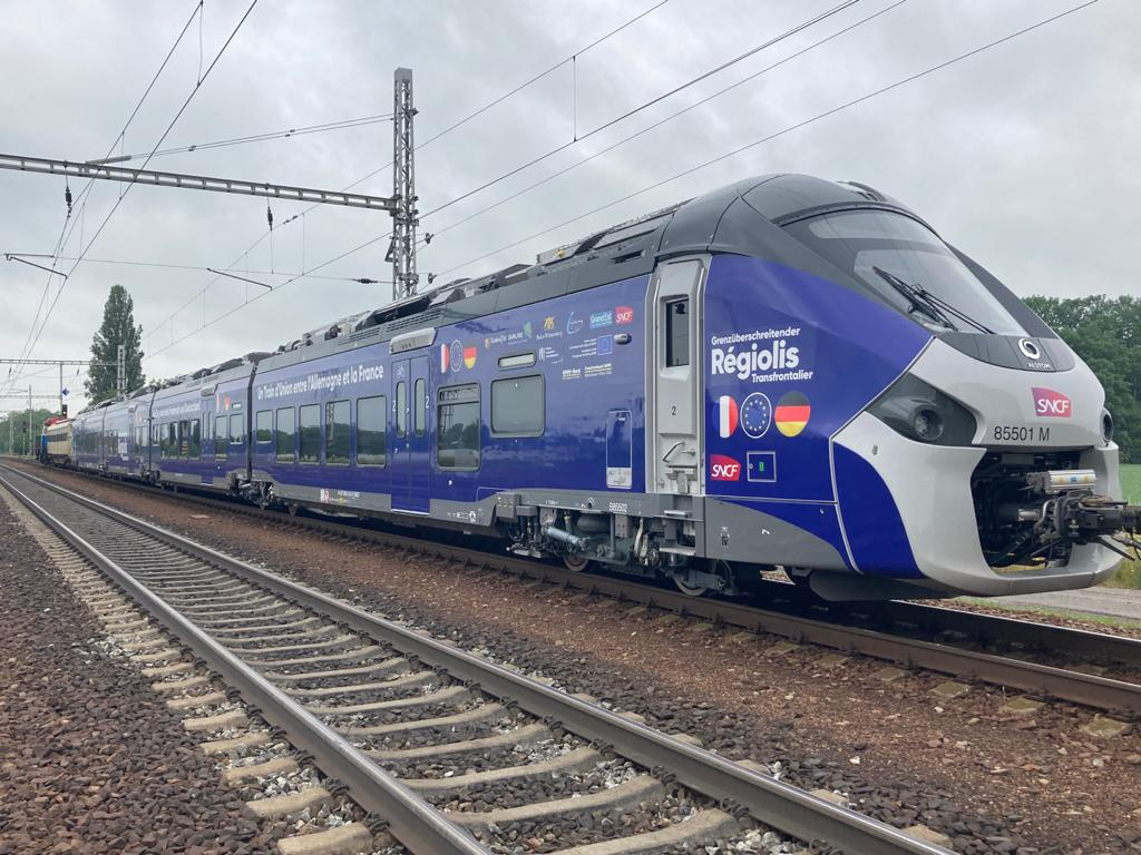 Alstom's Regiolis Crossborder hybrid unit train.