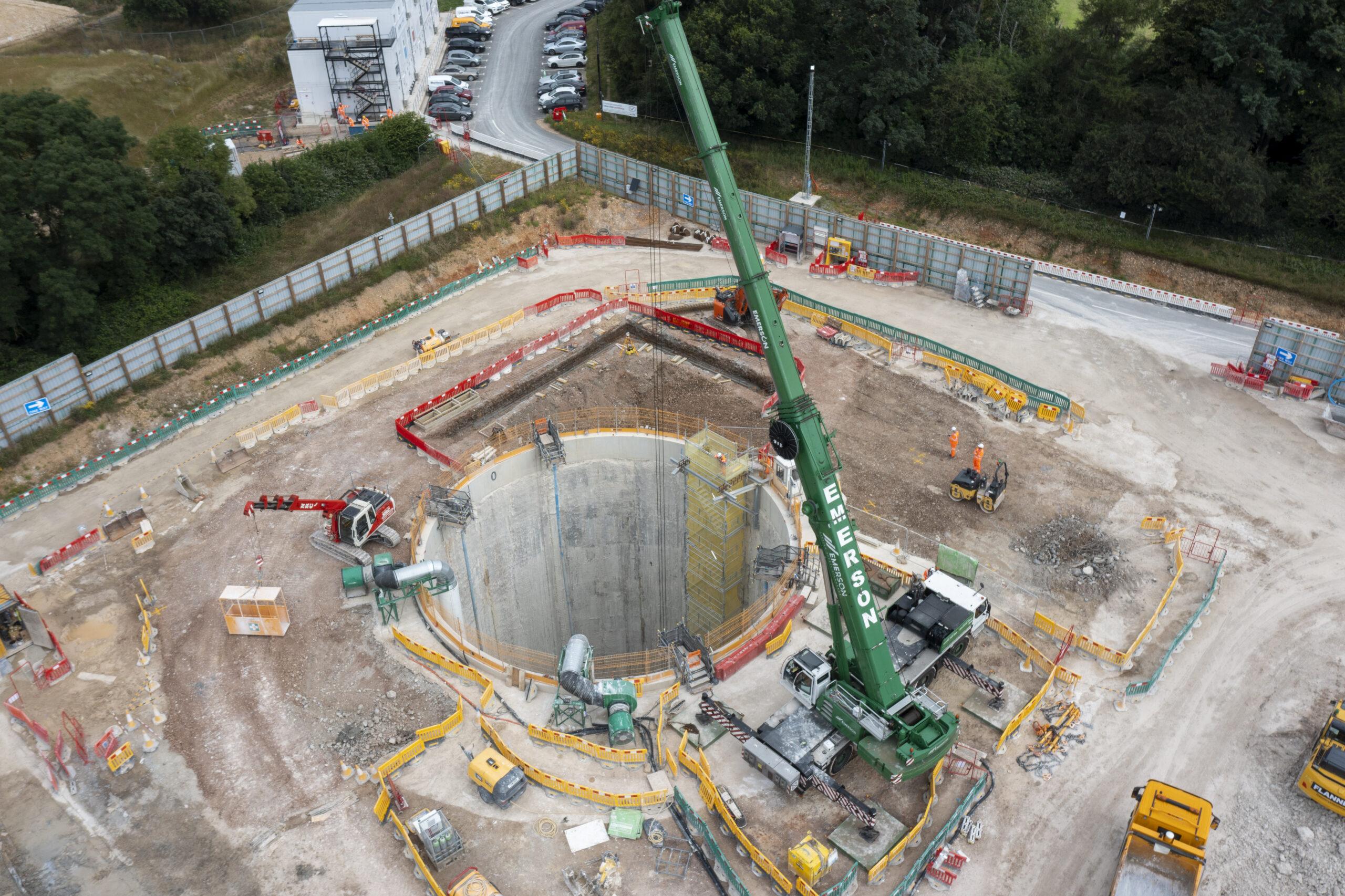 Excavation begins on Chalfont St Peter vent shaft in Buckinghamshire