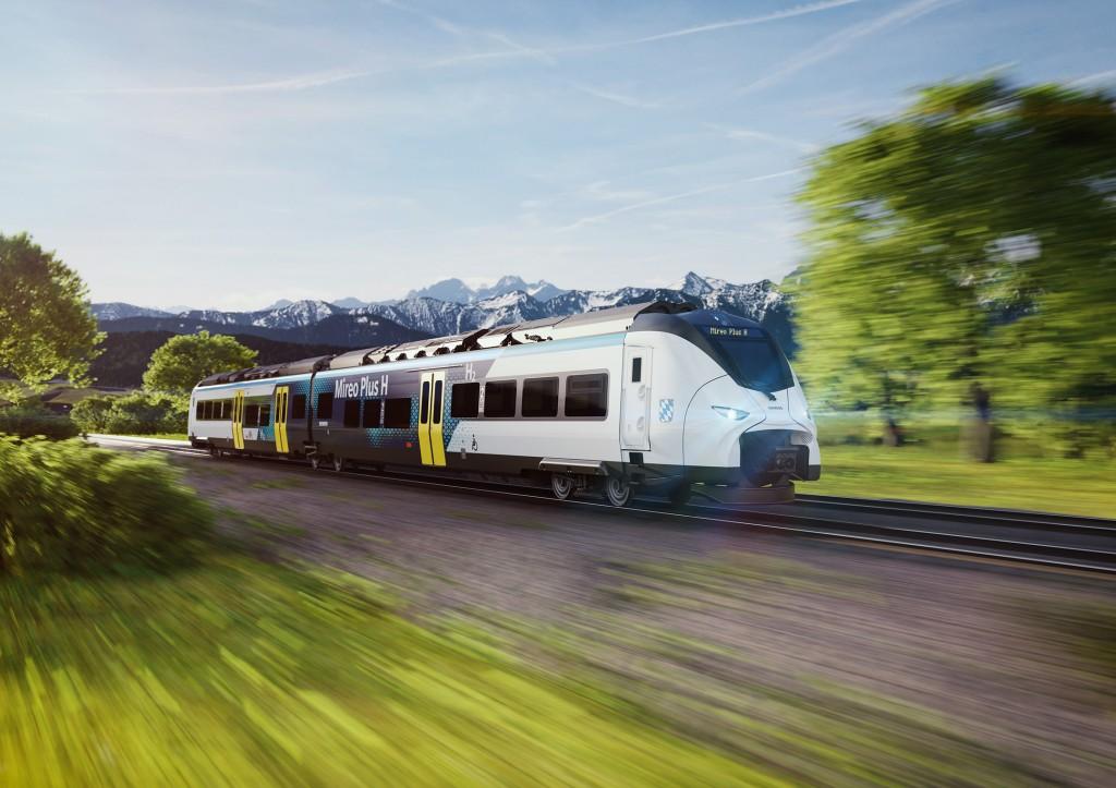 Siemens Mobility's hydrogen train for Bavaria.