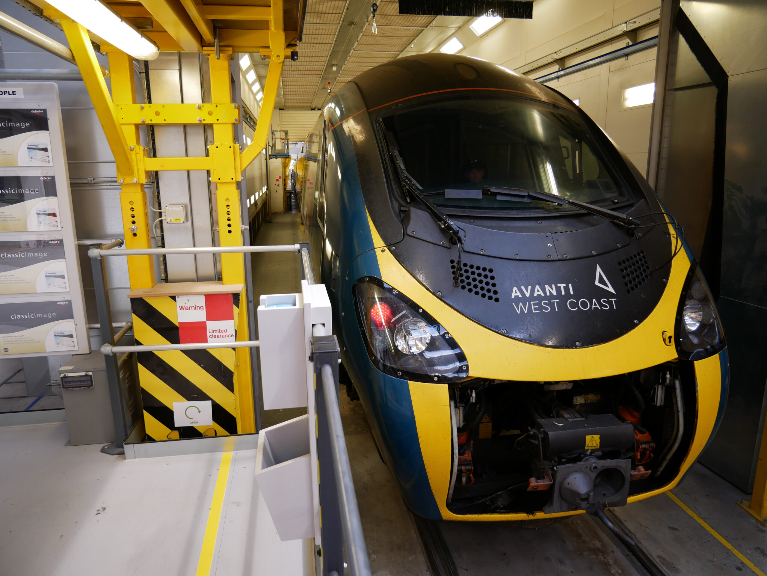 The first Alstom Pendolino arrives at the Widnes depot