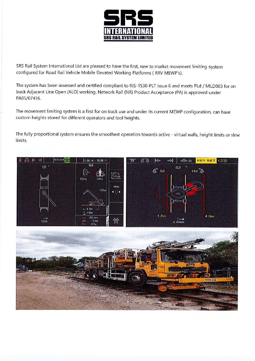 SRS Rail Movement Limiting System