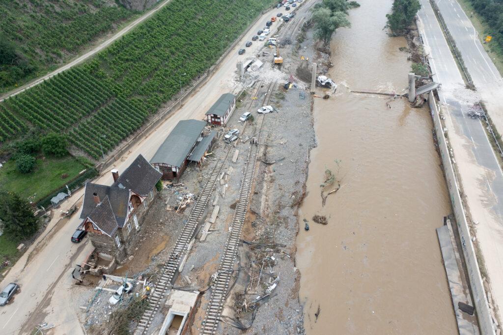 Consequences of serious weather in Germany: Heimersheim near Bad Neuenahr-Ahrweiler
