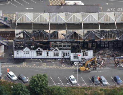 Fire Seriously Damages Troon Station in Scotland