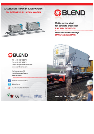 Mobile Mixing Plant for Railways