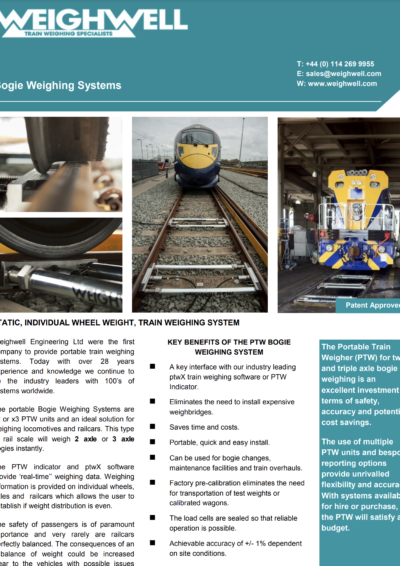 Bogie Weighing Systems