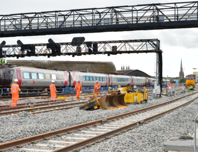 Major Track Upgrade at Bristol East Junction Reaches Halfway Point