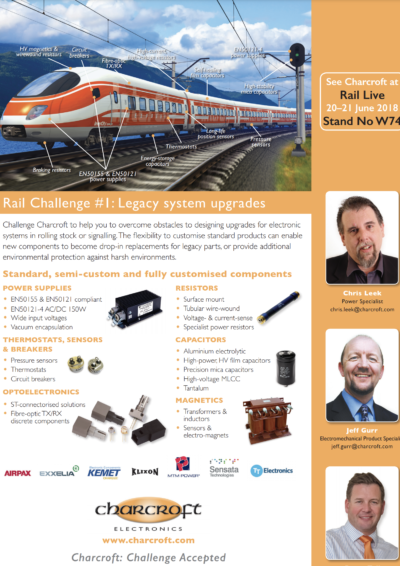 Rail Challenge No 1: Legacy System Upgrades