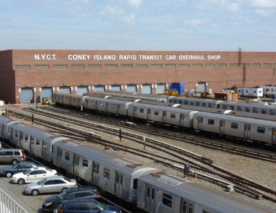 NY's Coney Island Yard Complex Fortifications Enter New Phase