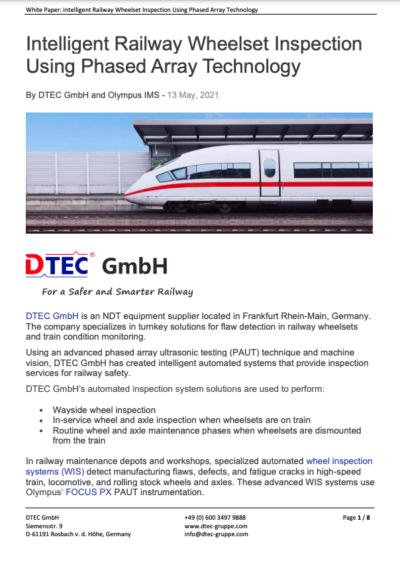 Intelligent Railway Wheelset Inspection Using Phased Array Technology