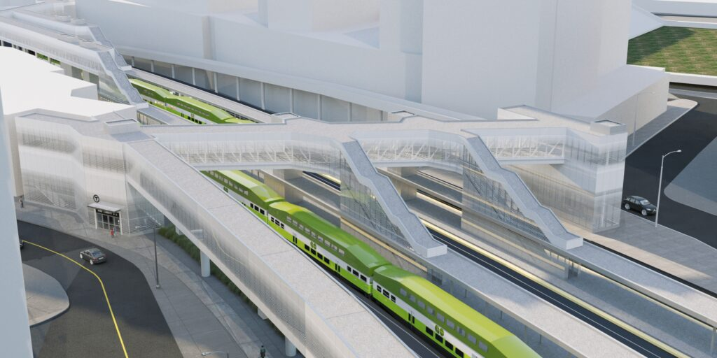 The new King Liberty GO station. Artist's rendering, final designs are subject to change.