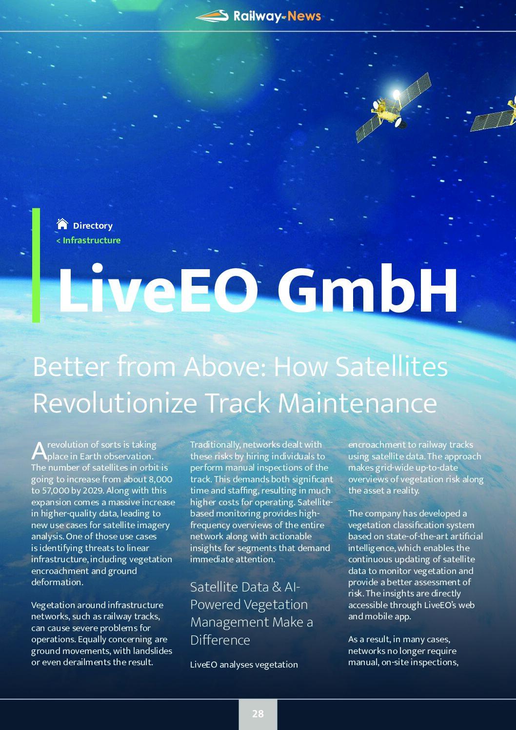 Better from Above: How Satellites Revolutionize Track Maintenance