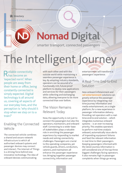 The Intelligent Journey