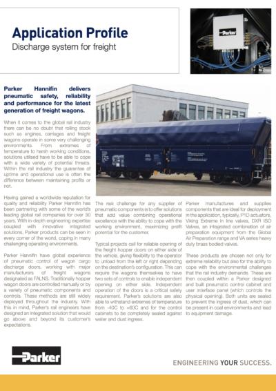 Pneumatic Control of Wagon Cargo Discharge Doors