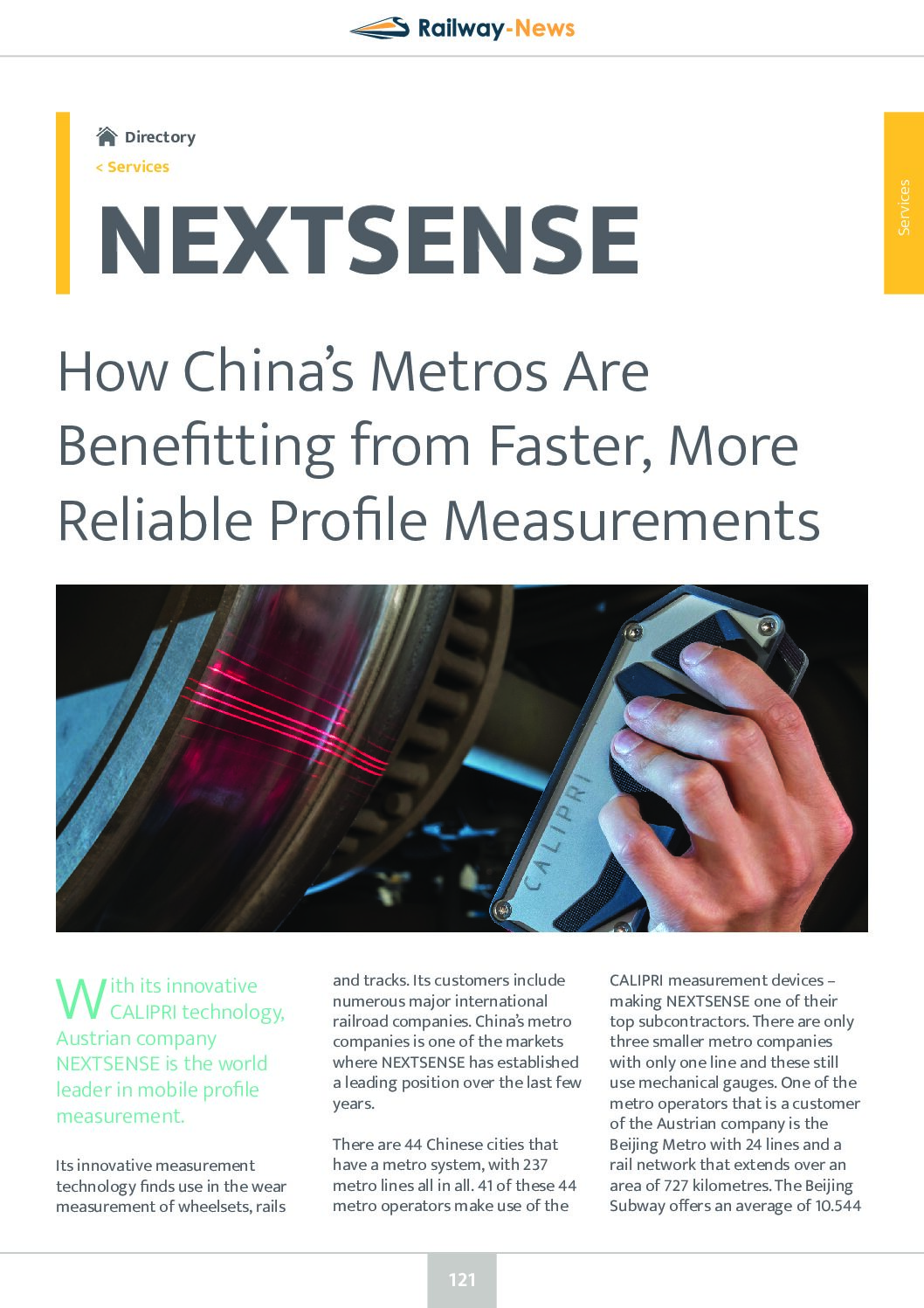 How China's Metros Are Benefitting from Faster, More Reliable Profile Measurements