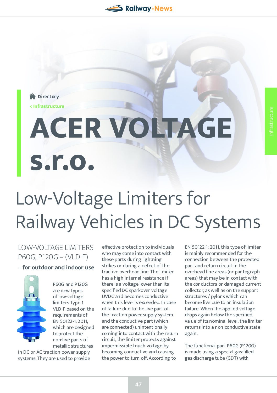 Low-Voltage Limiters for Railway Vehicles in DC Systems