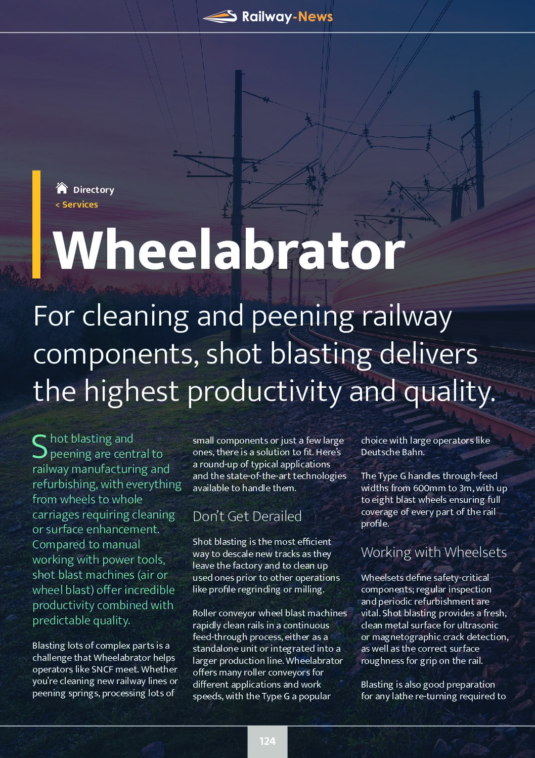 For Cleaning and Peening Railway Components, Choose Shot Blasting