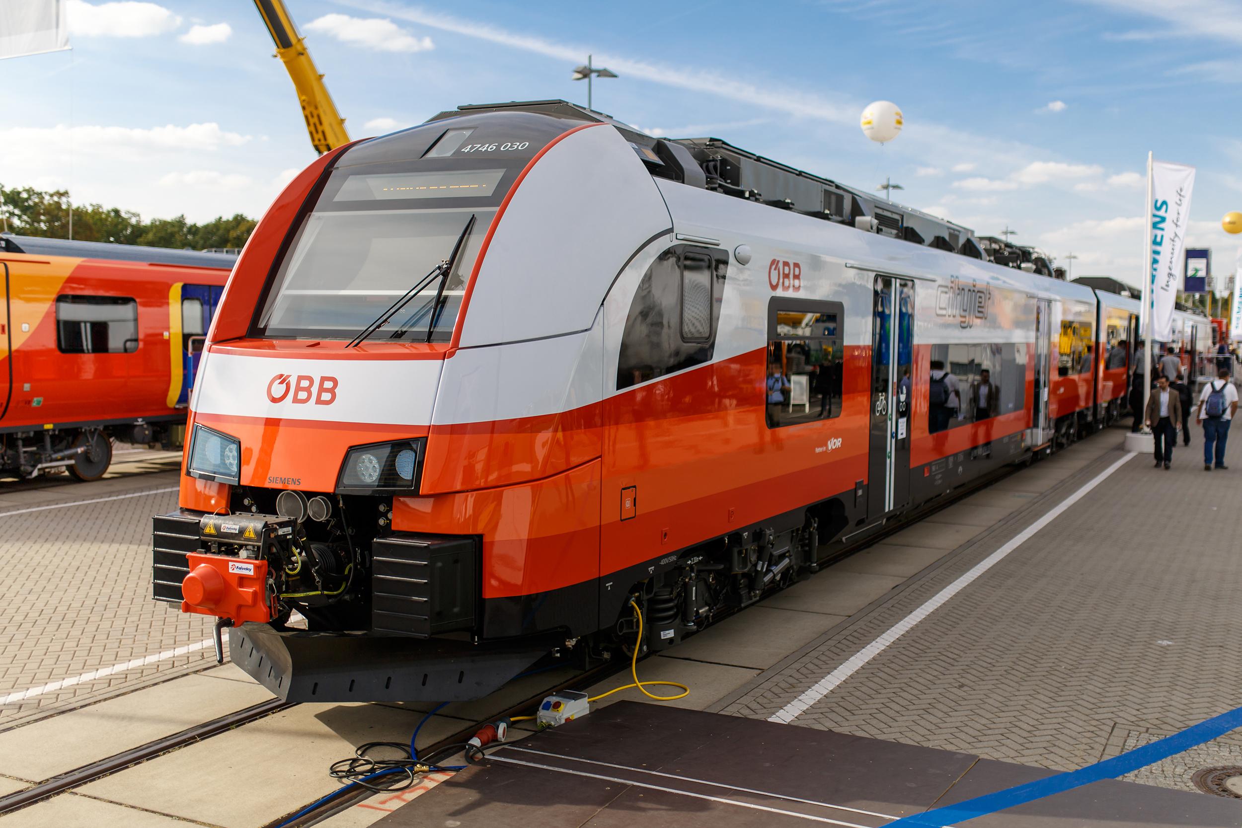 Siemens Desiro ML for Austrian Federal Railways exterior
