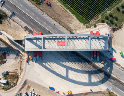 Webuild Completes Construction of Third Bridge on Naples-Cancello Section of High-Speed Rail Line