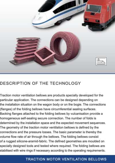 Traction Motor Bellows