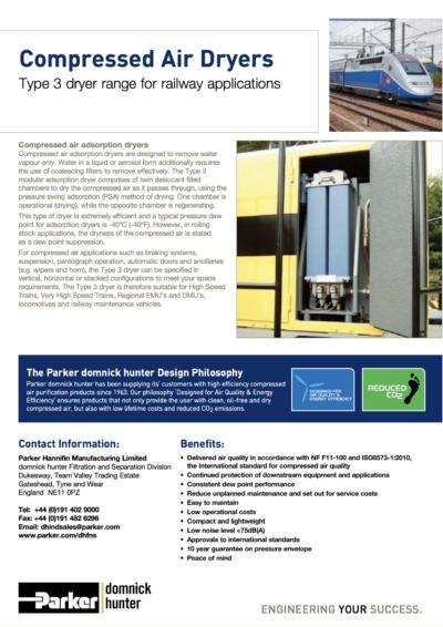 Railway Compressed Air Dryers