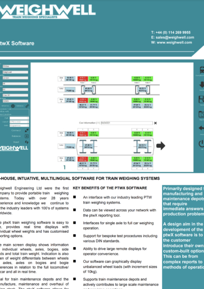 ptwX Train Weighing Software
