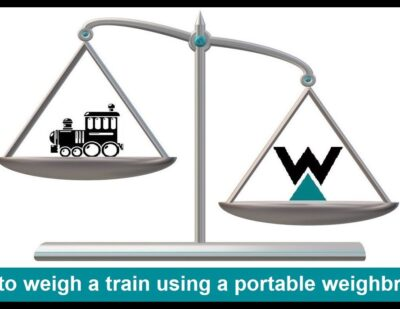 How to Weigh a Train or Railcar Using a Portable Weighbridge!
